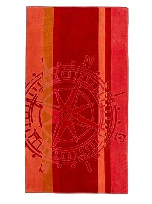 Arkhipelagos Wheel Beach Towel, Red, 39