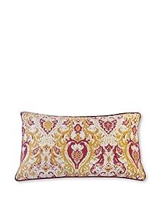 "Jiti Turkish Crown 12"" x 20"" Pillow, Gold/Red"