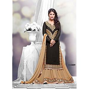 Festival Wear Black Ankle Salwar Kameez By Hina Khan