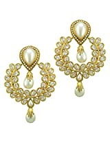 Ethnic Indian Bollywood Jewelry Set Traditional Fashion Imitation EarringsCHEA0217WH