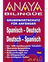 Anaya Bilingue: Basic Glossary Spanish/German German/Spanish