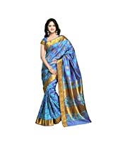 Varkala Nandani Silk Lotus Paisley with Peacock Border,Dual Colour Ananda-Viloet-JB9101ADV