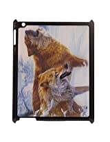 3D Effect Style Wolves Pattern Hard Back Case Cover For Ipad 2/3/4