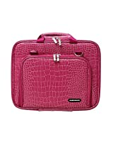Casecrown Memory Foam Pocket Case (Alligator Hot Pink) For 15 Inch Apple Macbook Pro With Retina Display