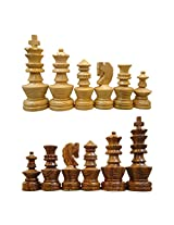 craft store Hand Made Wooden Artistic Chess Set 4""