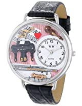 Whimsical Watches Unisex U0510001 Music Teacher Black Skin Leather Watch