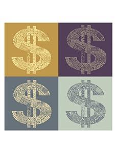 """L.A. Pop Art 24"""" x 24"""" Money Gallery Canvas"""