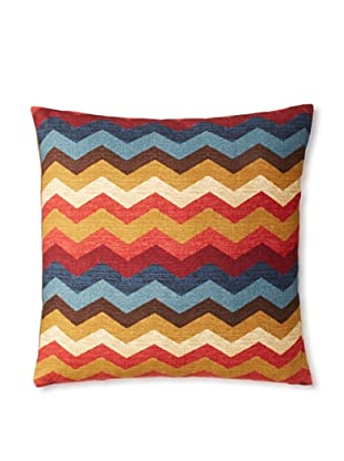 The Pillow Collection Aiome Zig-Zag Decorative Pillow (Gem)