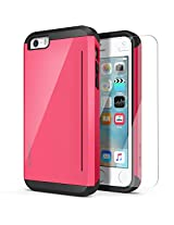 iPhone SE Case, OBLIQ [Skyline Pro][Pink] w/ HD Screen Protector - with Kickstand Slim Fit Bumper Dual Layered Heavy Duty Hard Protection Case for Apple iPhone SE [Compatible with iPhone 5S/5]