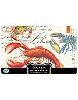 Michel Design Works Placemats, Lobster, 25-Sheet