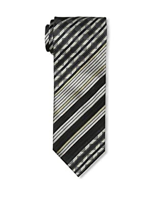 Missoni Men's Stripes and Pattern Tie, Black/Tan