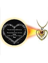 Dijyo Divine Darshan I Love You 24K Gold Plated Pendant (GP28ILY)