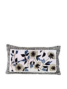 """John-Richard Collection Floral Appliquéd and Jeweled Pillow, 12"""" x 20"""""""