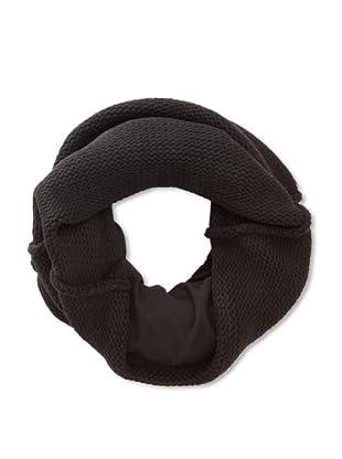 Plush Women's Fleece Lined Neckwarmer (Black)