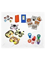 Zoo Animal Themed Bundle Set For 12, 192 Piece (Masks,Rings,Stamps,Rings,Tote Bags,Tattoos)