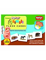 Krazy Common Animals - Tamil Flash Cards With Ring