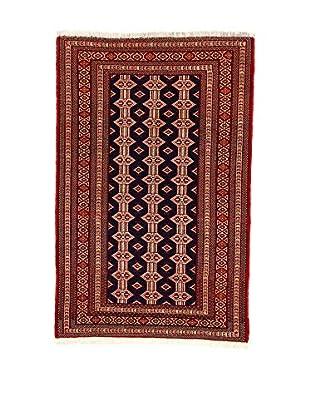 L'Eden del Tappeto Teppich Yomud rot/dunkelblau 210t x t140 cm