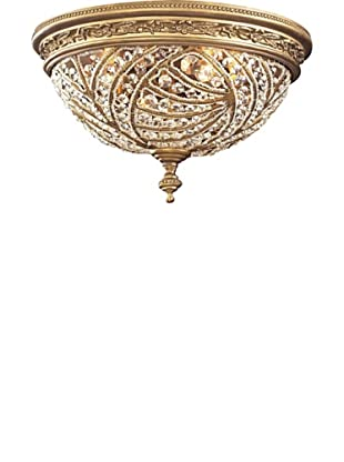 ELK Lighting Renaissance 2-Light Flush-Mount Ceiling Fixture with Crystal Accents, Dark Bronze