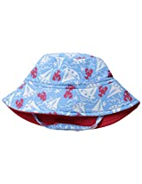 Flap Happy Baby Boys' Polyester UPF 50+ Fun In The Sun Hat, Somersault Sails, Large
