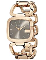 Gucci Women's YA125408 G-Gucci Brown Sun-Brushed Dial Stainless Steel Watch