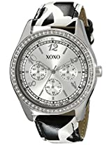 XOXO Women's XO3170 Silver Dial Black and White Giraffe Strap Watch