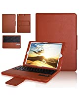 iPad Air 2 & 1 Bluetooth Keyboard Case, Aerb Premium Series PU Leather Case Cover W Removable Wireless Keyboard for iPad Air 1st and 2nd-Best iPad Companion-Brown