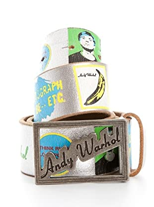 Andy Warhol by Pepe Jeans Cinturón Wrapper (Plata)
