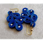 paper Jwel_Blue Hanging Earring with Stone
