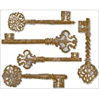 Lot 26 Studio Adhesive Reflections Wall Decor, Antique Mirror Keys