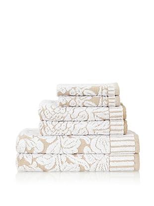Famous International Chantilly 6-Piece Towel Set (Sand)