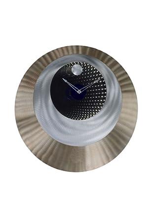 Jon Gilmore Round N' Round Clock (Silver/Bronze)