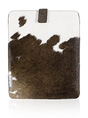 Natural iPad Cowhide Case (Brown/White)