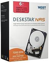 HGST Deskstar NAS 3.5-Inch 6TB 7200RPM SATA III 128MB Cache Internal Hard Drive Kit (0S03841)