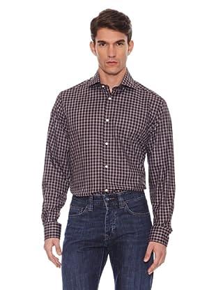Hackett Camisa Cuadros (Marrón / Gris)