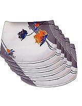 Set of 12 pcs Trendy White Melamine Full Dinner Plates LE TW 002 PLF 12