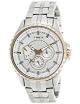 Timex E-Class Analog Silver Dial Men's Watch - I402