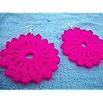 Pink Yarn Earring