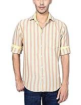 Peter England Men's Slim Fit Shirt (ESF31500249, Cream, 40)