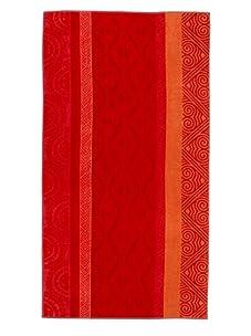 Arkhipelagos Waves Beach Towel (Red)
