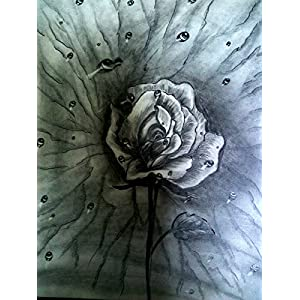 NUCreations The Valentine - Original Painting - Charcoal On Cartridge Paper