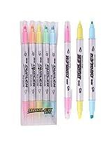 Javapen Duplex Twin Mild,Original Fluorescent Highlighter Pen Marker(Pack of 5) (Fluorescent-?Mild)