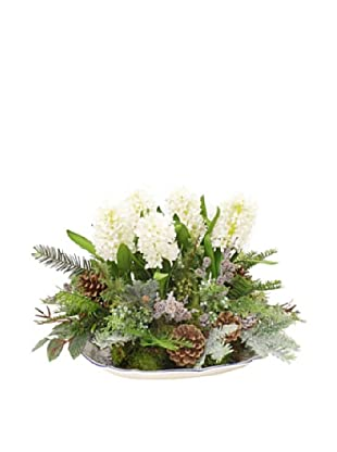 Winward Hand-Crafted Icy Hyacinth Mixed Platter, White Green