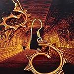 Spiral gheroo earrings in orange gold shades