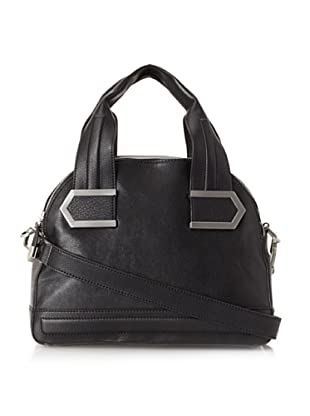 Allibelle Women's Stripes Satchel (Black)
