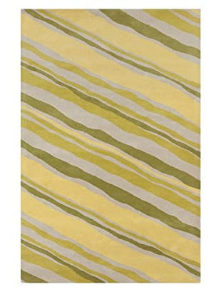 Filament Malena Hand-Tufted Wool Rug, Green, 5' x 7' 6