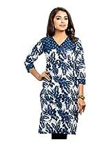 Almas Women's Cotton Regular Fit Kurti (ALM-KUR-400119_XL, Multicolor, X-Large)