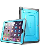 SUPCASE Beetle Defense Series for Apple iPad Mini with Retina Display (2nd Gen) Full-body Hybrid Protective Case with Built-in Screen Protector (Blue/Black) - Dual Layer Design/Impact Resistant Bumper (Also Compatible with iPad Mini 1st Generation)