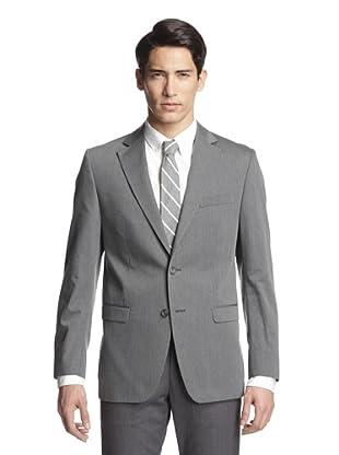 Simon Spurr Men's Solid Notch Lapel Sportcoat (Charcoal)