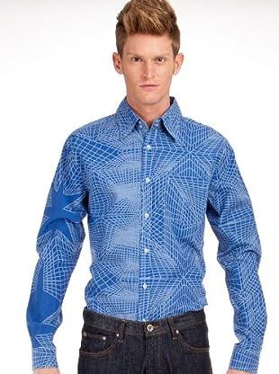 Custo Hemd Poly (Blau)