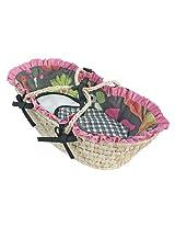 Hoohobbers Doll Moses Basket, Sleek Slate